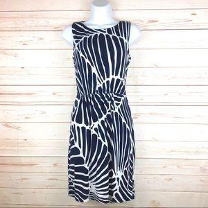 Vineyard Vines Navy Blue & White Stretch Dress S